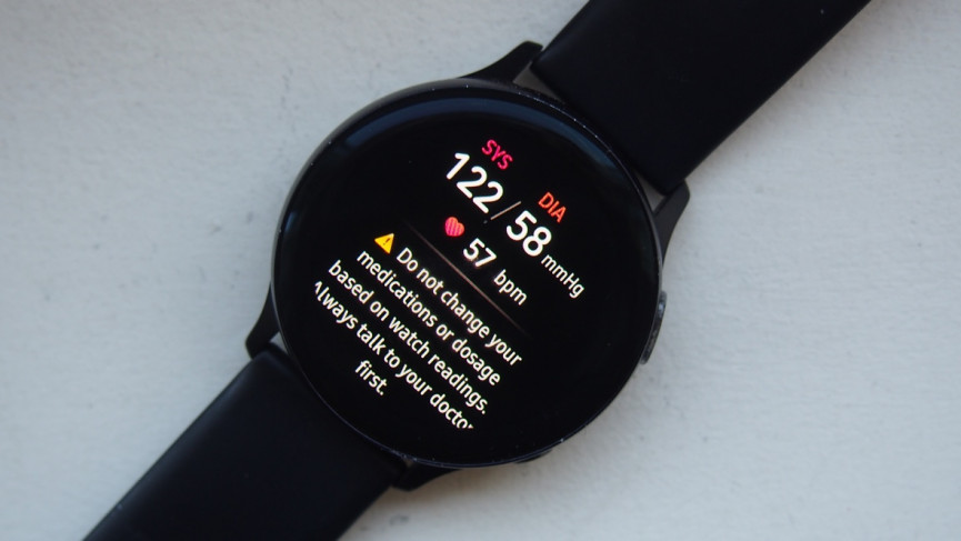 How to take blood pressure reading with Samsung Galaxy Watch