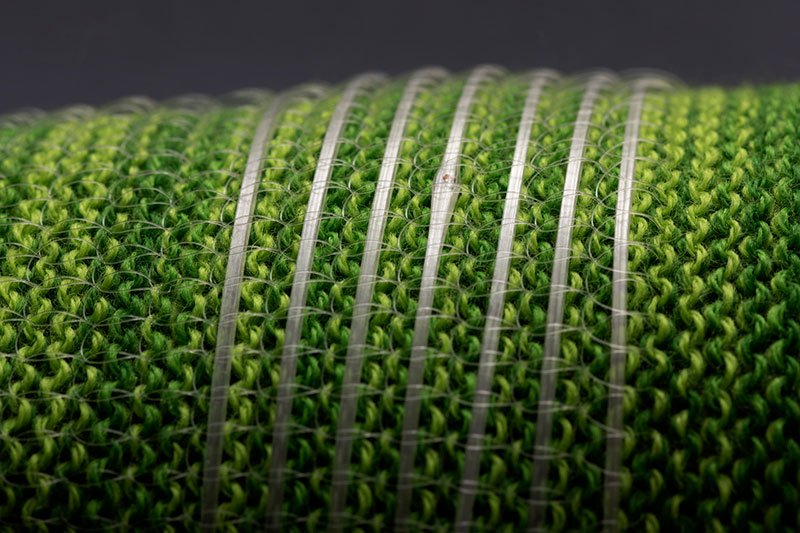 A fabric with embedded smart sensors
