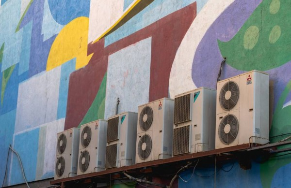 Air conditioning unit wall