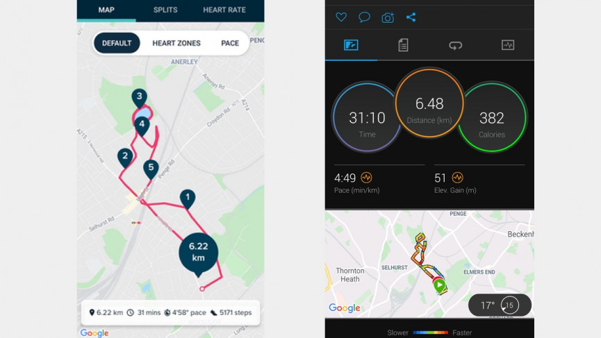 Fitbit Luxe running