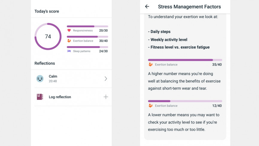 Fitbit Luxe stress